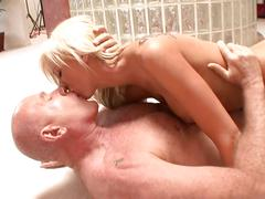Hot girl blowing & fucking her stepdad