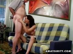 Amateur girlfriend blowjob and anal with facial