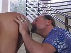 Sexy euro babe takes an old cock in her ass