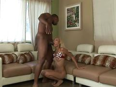 Nasty ebony slut fucked by big black dick