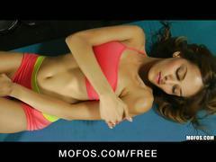 Mofos - skinny blonde latina valerie rios masturbates