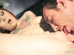 Busty tattoed redhead misti dawn fucked