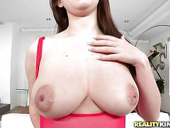 pussy licking, brunette, tattooed, big naturals, busty babe, nipples licking, boobs groping, big naturals, reality kings, chris strokes, scarlett skye