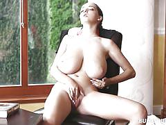 babe, high heels, solo, big boobs, masturbating, brunette, self fucking, busty buffy, busty buffy