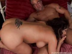 big ass, big tits, brunette, hardcore, old & young, pussy, big natural tits, brown hair, busty, nice ass, old woman young man, piledriver, reverse cowgirl, shaved pussy