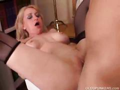 Sexy blonde milf getting fucked hard.