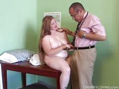 Busty, chubby redhead amateur trades head and gets nailed