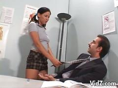 Horny teacher licking innocent hailey page's pussy
