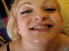 Blonde scarlet haze goes ass to mouth