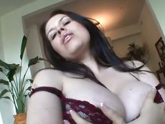 Big tits brunette sucks and fucks nasty cock