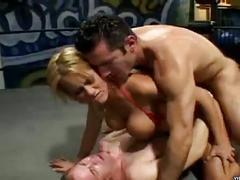 Busty blonde trina michaels gets both holes nailed in threesome