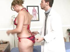 Bubble butt blonde ava rose gets nailed by doctor