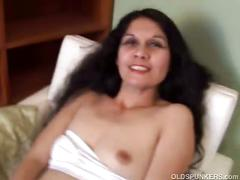 Mature latina shows hot body and toys pussy