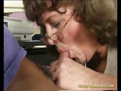 Crazy old mom gets big cock into her pussy