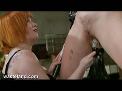 Kinky lesbian dominated blonde chick