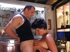 Italian mature with big tits