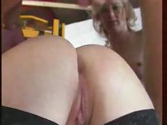 Hot gangbang in the classic style of german porn