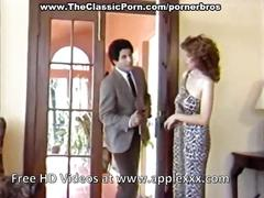 Vintage brunette housewife seduced by stranger