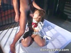 Sweet asian hairy slut got punished