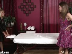 Hot lesbian massage