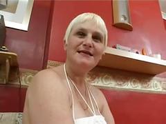 Granny blonde fuckin young bbc