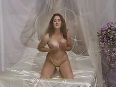Hot francesca pinch and play her big tits