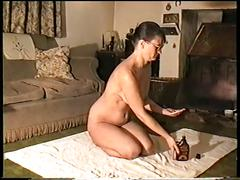 Naked oiled body