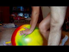 Real amateur couple fucking on a fitness ball