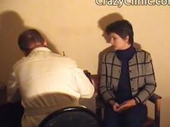 Russian girl enema and anal exam