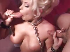 Big-boobed blonde hottie janie double anal fanatic