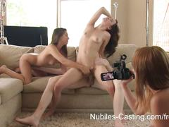 Nubiles casting-an unexpected threesome for teen porn tryout