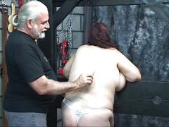 Guy punishes kinky bbw in panties