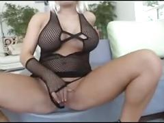 Black dude fucks a busty blonde