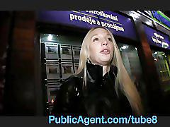Publicagent pale skinny mina stretches her pussy to take my big cock
