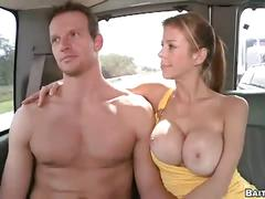 Muscled amateur hunk wrecking queer anal hole in bait bus