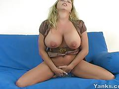 yanks.com, mom, mother, dildo, big-tits, natural-tits, big-boobs, toys, masturbate, blonde, orgasm, close-up, shaved, masturbating, cougar, busty