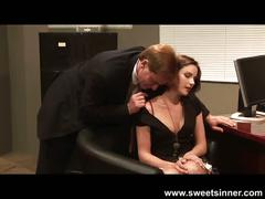 Samantha and evan's office fuck