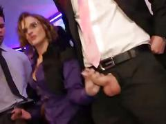 Classy sluts take cocks in their mouths and pussy