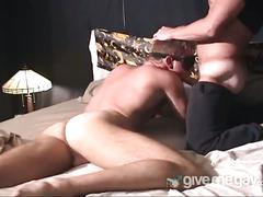 Horny hunk fucks sleeping buddy