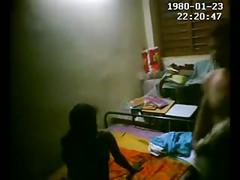 I set up hidden cam at friend's house