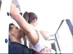 Hot chick rachel roxxx gets to ride the gym instructors hard cock