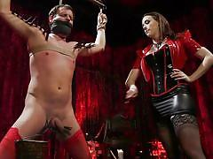 milf, femdom, bdsm, latex, whipping, sex slave, cock torture, clothespins, rope bondage, divine bitches, kink, chanel preston, marcelo x