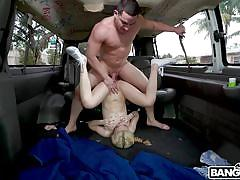 Jane enjoys a fuck in the bangbus
