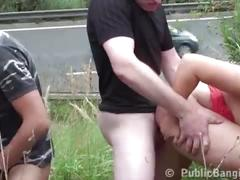 Cum on big tits and face of krystal swift in public street sex gang bang orgy