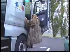 stockings, blonde, blowjob, fingering, mature, vehicle, public, truck