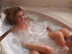 lesbian, amateur, tube8.com, bath tub, large tits, blonde, milf, cougar, nipple licking, perky boobs, brunette, dildo, shaved cunt, orgasm, pussy eating