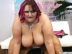 Mature plump mom loves to fuck big black cocks