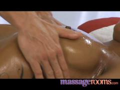Massage rooms big natural tits oiled up before girls...