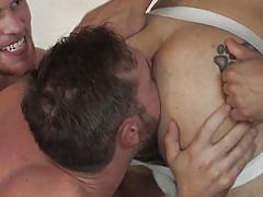 Handsome hunks having an orgy
