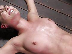 Slim roxanne rae tied up and tortured to orgasm